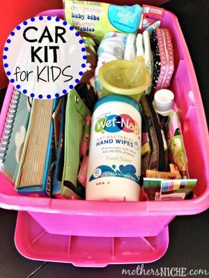 kits de viaje y organizadores de coche DIY Para viajar con niños (2)