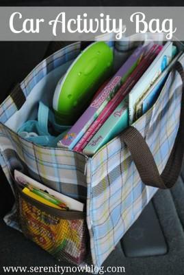 kits de viaje y organizadores de coche DIY Para viajar con niños (8)