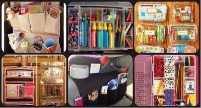 kits de viaje y organizadores de coche DIY Para viajar con niños Collage 2