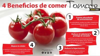 4 Beneficios de comer tomate