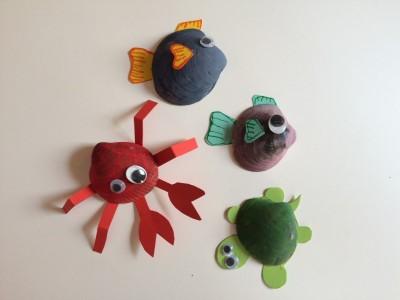 Día 3 Animales marinos con conchas.