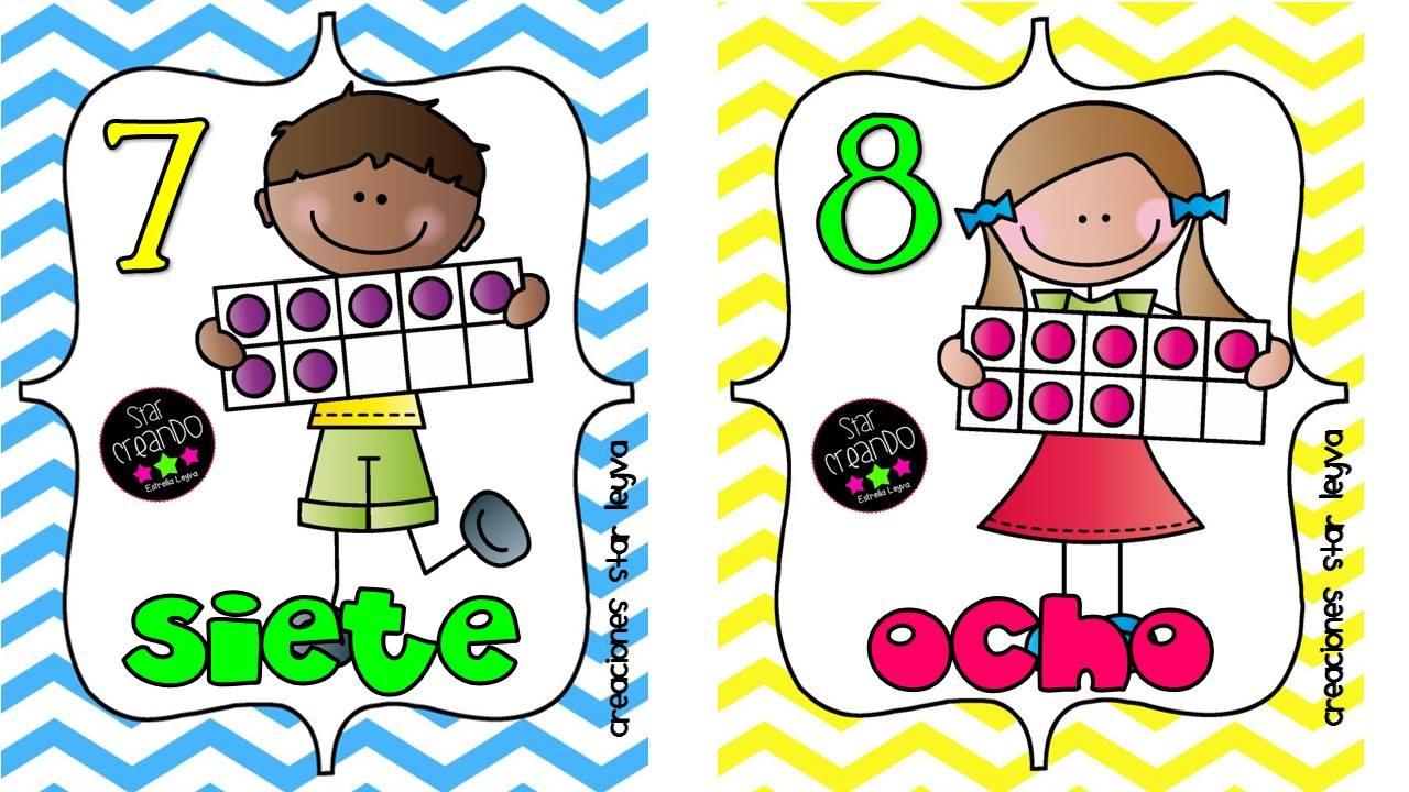 Numero 10 Con Imagenes: Números Carteles (5)
