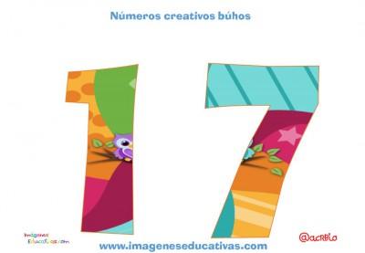 Números creativos Búhos 1 al 20 (17)