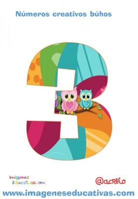 Números creativos Búhos 1 al 20 (3)