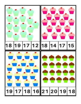 Tarjetas para aprender los números, Motivos Cupcakes (5)