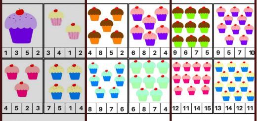 Tarjetas para aprender los números, Motivos Cupcakes Portada