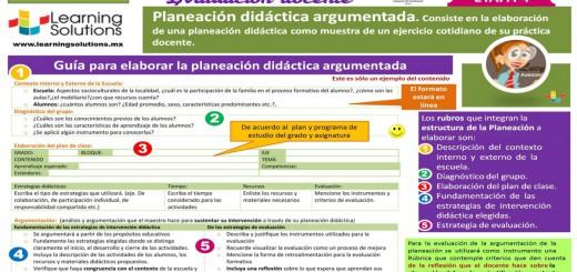 Etapa guía para preparar una Planeación Didáctica Argumentada Portada