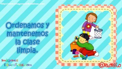 Normas para infantil, Preescolar y Primaria. Imprimibles Azul (5)