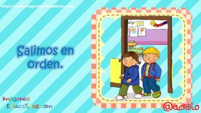 Normas para infantil, Preescolar y Primaria. Imprimibles Azul (8)