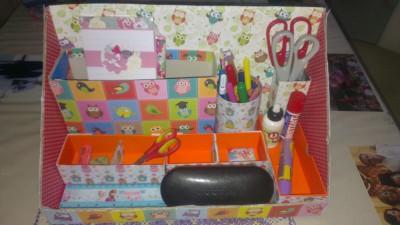 Organizador de escritorio DIY (14)