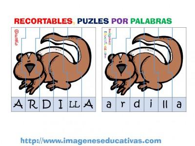 Puzle por letras animales (7)