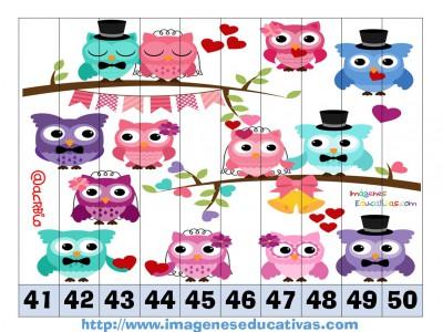 Recortables para imprimir. Puzles por números y letras (16)