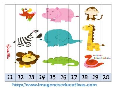 Recortables para imprimir. Puzles por números y letras (4)