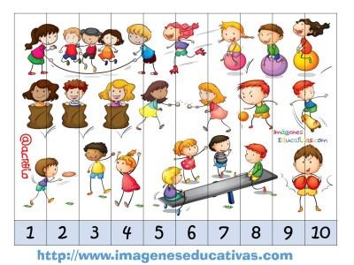 Recortables para imprimir. Puzles por números y letras (5)