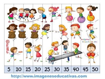 Recortables para imprimir. Puzles por números y letras (6)