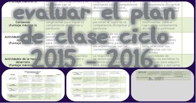 Rubrica para evaluar el plan de clase Portada 2