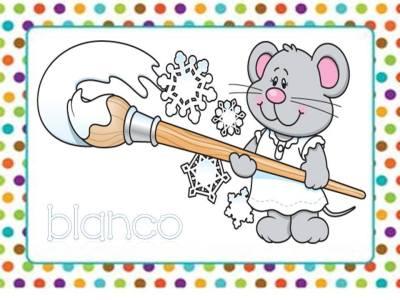 Tarjetas aprendemos los colores con en ratón Colorín (4)