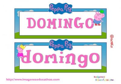 Tarjetas días semana Peppa Pig (7)