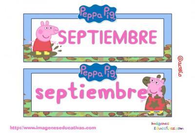 Tarjetas imprimibles Meses y estaciones Peppa Pig (10)