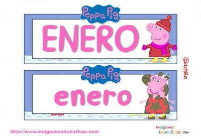 Tarjetas imprimibles Meses y estaciones Peppa Pig (2)