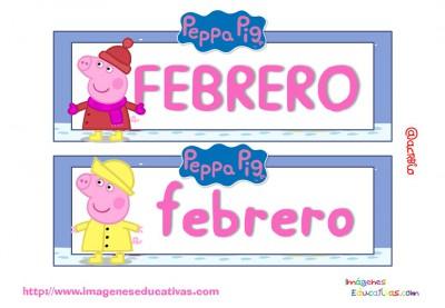 Tarjetas imprimibles Meses y estaciones Peppa Pig (3)