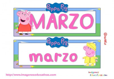 Tarjetas imprimibles Meses y estaciones Peppa Pig (4)