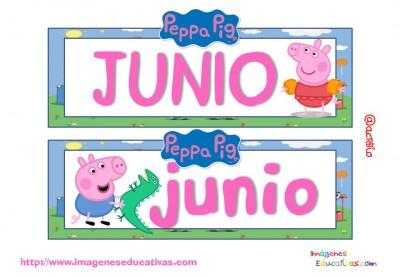 Tarjetas imprimibles Meses y estaciones Peppa Pig (7)