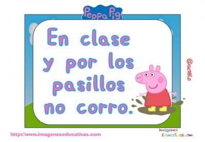 Tarjetas normas de clase Peppa Pig (9)