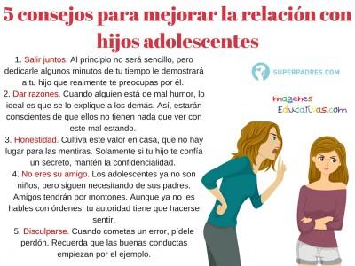 5 Consejos para mejorar la relación con hijos Adolescentes