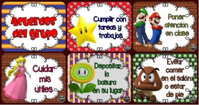 Acuerdos de Grupo. Motivos Mario Bros Portada