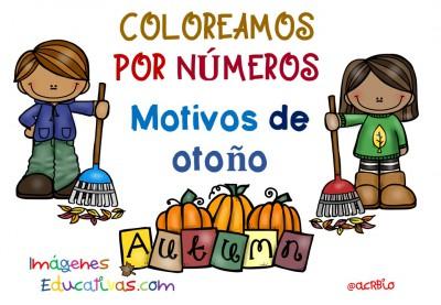 Coloreamos por números con motivos de otoño (1)