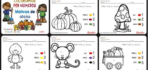 Coloreamos por números con motivos de otoño Portada