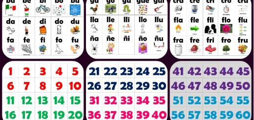 Manipulativo para aprender las números, vocales y las silabas Portada
