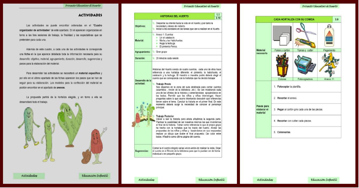 Nuestro proyecto educativo para el nuevo ciclo el huerto for Proyecto de restaurante escolar