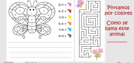 Pintamos por colores y números. Actividades matemáticas para colorear y aprender Portada