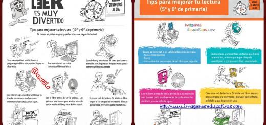 Tips para mejorar tu lectura (5° y 6° de primaria)Portada