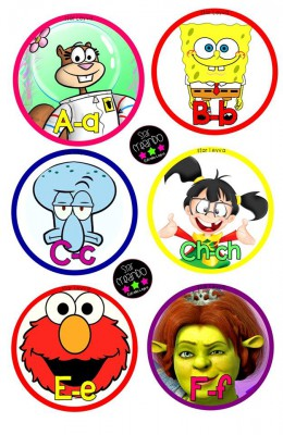 abecedario cartoon Star Creando (1)