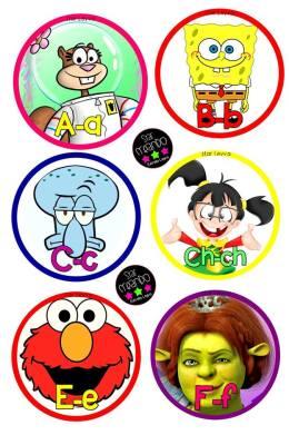 abecedario cartoon Star Creando (1)