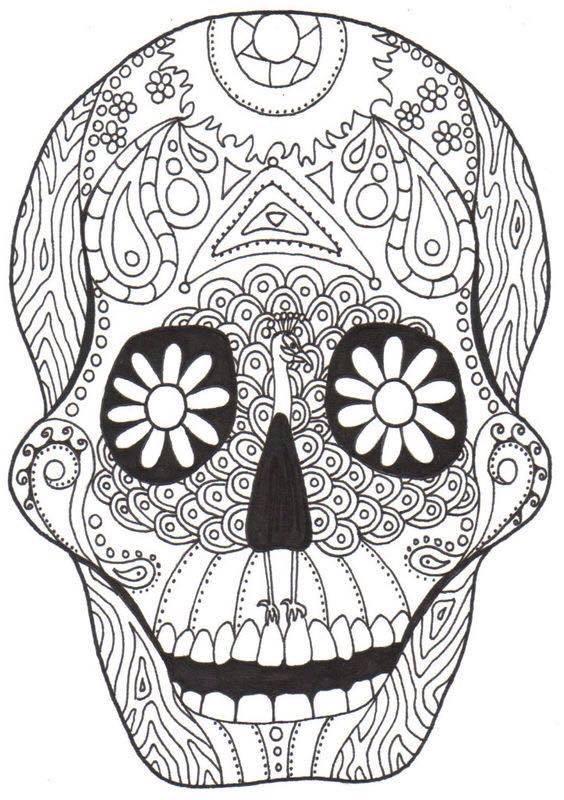 Dibujos para colorear el día de los muertos (10) - Imagenes Educativas