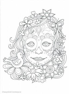 Dibujos para colorear el día de los muertos (13)