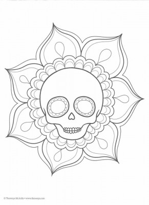 Dibujos para colorear el día de los muertos (15)