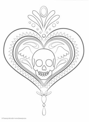 Dibujos para colorear el día de los muertos (18)