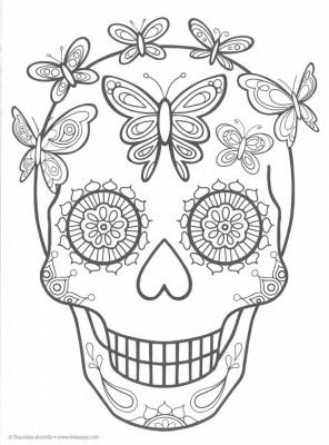 Dibujos para colorear el día de los muertos (27)