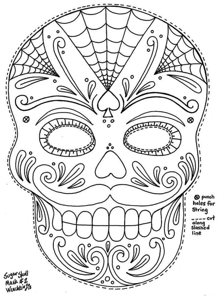 Dorable Día De Los Muertos Libro De Colorear Fotos - Dibujos Para ...