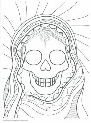 Dibujos para colorear el día de los muertos (30)