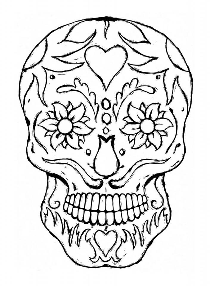 Dibujos para colorear el d a de los muertos 40 imagenes educativas - Dibujos para pintar en tejas ...