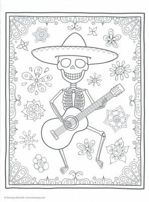 Dibujos para colorear el día de los muertos (42)