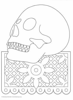 Dibujos para colorear el día de los muertos (48)