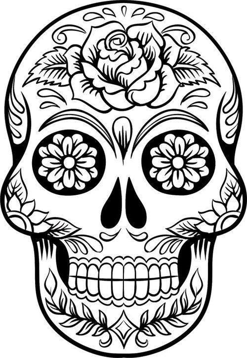 Dibujos para colorear el día de los muertos (51) - Imagenes Educativas