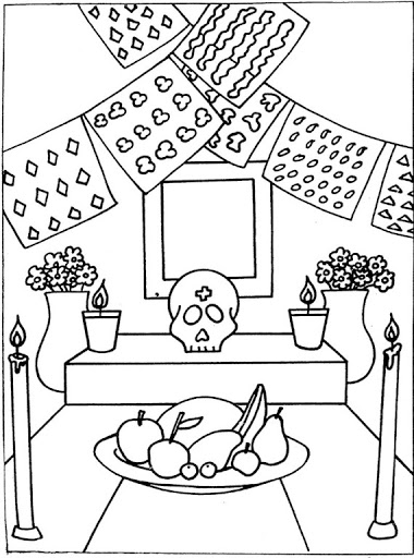 Dibujos Para Colorear El Día De Los Muertos 57 Imagenes